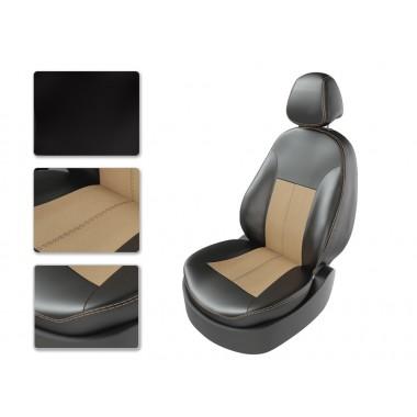 Авточехлы для Vesta CNG цвет чёрно-бежевый-бежевый