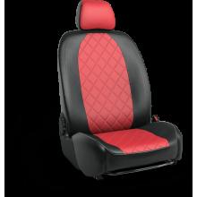Чехлы на сиденья для Nissan Note Красный ромб