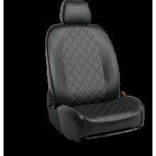 Чехлы на сиденья для Nissan Note Черный ромб