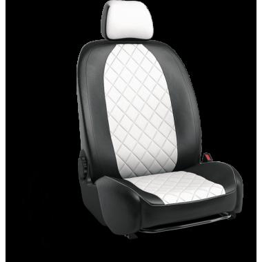 Авточехлы для Vesta CNG чёрно-белый ромб