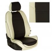 Чехлы на сиденья цвет Белый-Черный перф.