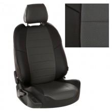 Чехлы на сиденья для Nissan Note цвет Черный-т.серый перф