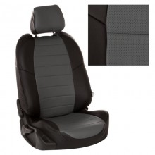 Чехлы на сиденья для ВАЗ 2110 цвет Черный-серый перф.