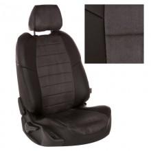 Чехлы на сиденья для Nissan Note Серая алькантара