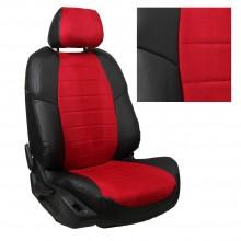 авточехлы для Lada Niva с 2020 красная альканатара