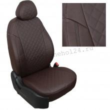 Чехлы на сиденья для Lada Niva Travel цвет шоколад ромб