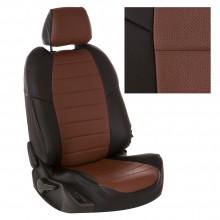 Новейшие чехлы из эко-кожи для Kia K5 черные с темно-коричневым