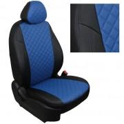 Модельные авточехлы для Volkswagen Taos черно-синий ромб