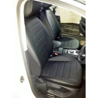 Авточехлы из экокожи на Audi A3 Черный