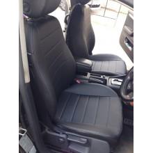 Авточехлы из экокожи на Audi A4 Черный