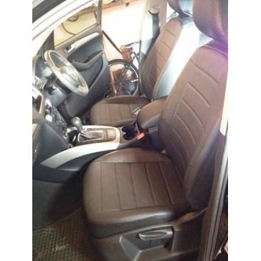 Авточехлы из экокожи на Audi Q5 Черный